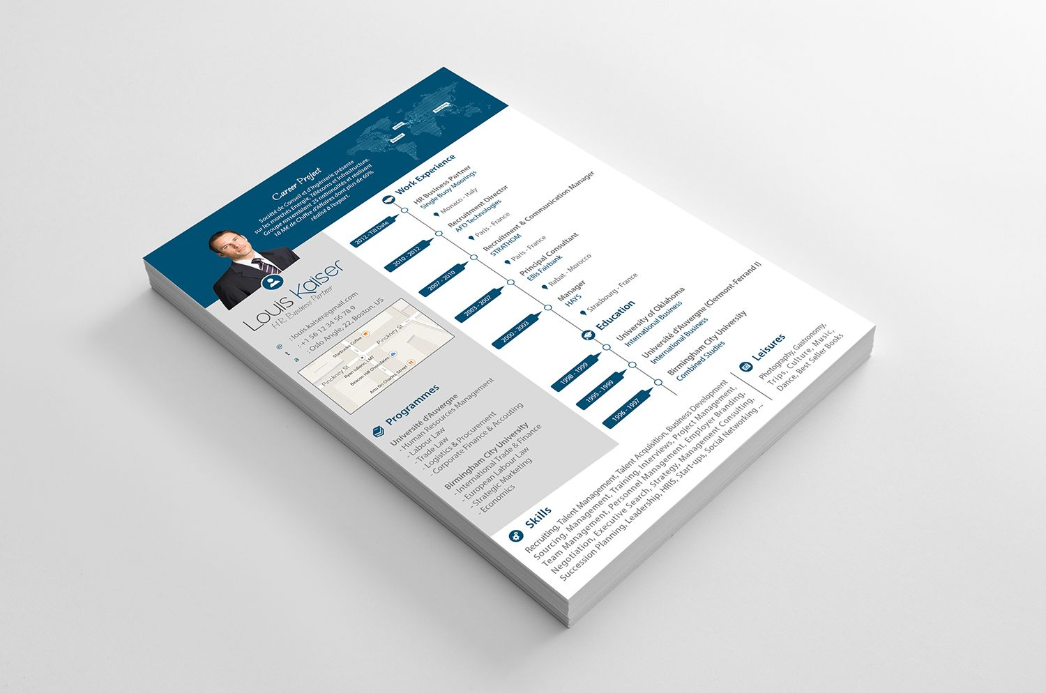 Hr business partner resume available in 5 great colors