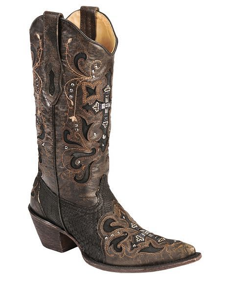 39ec6cefa33 Corral Crystal Cross Python Cowgirl Boots - Pointed Toe | Cowgirl ...