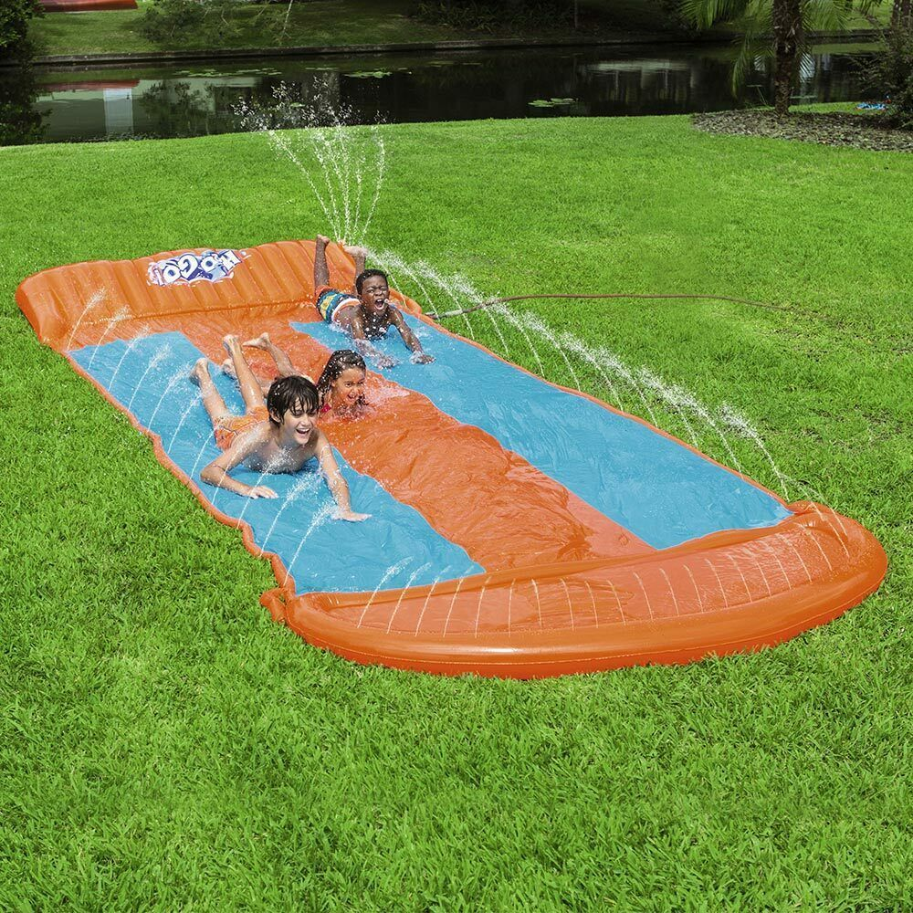 H20GO Kids Outdoor Water Slide Triple Slide Large Speed ...