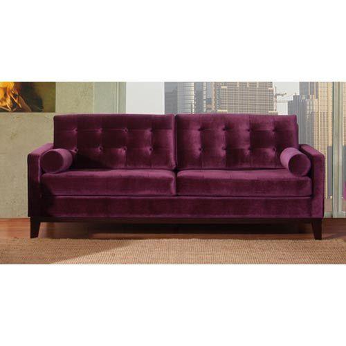 Centennial Purple Velvet Sofa Armen Living Sofas Sectionals Room Furniture