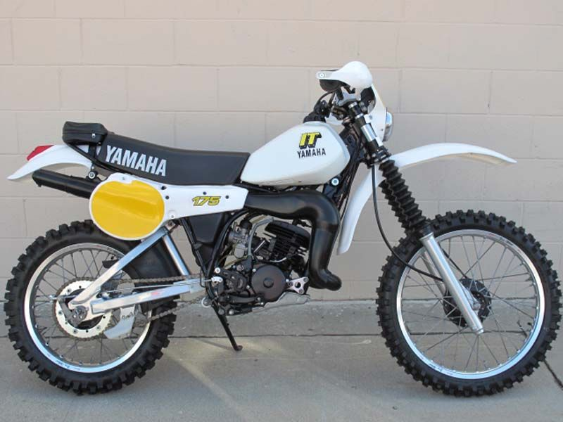 Nicely Restored 81 Yamaha It 175 Enduro Motorcycle Vintage Bikes Vintage Motocross