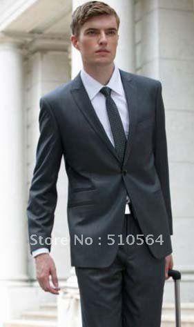 One button peak lapel jetted pocket suit | Peak lapel fetishism ...