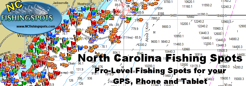 North carolina fishing maps to some of the best fishing for Nc fishing laws