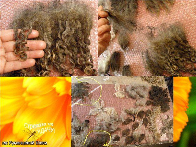 Russian tutorial felting fleece scarf part 2