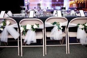 más y más manualidades: Ideas para decorar sillas de fiesta usando tul