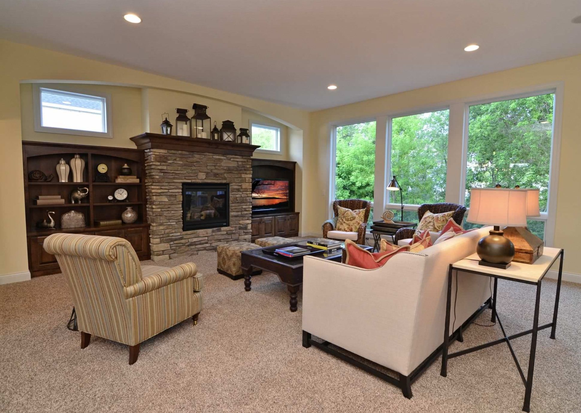 Simple mantle styling family roomsliving rooms pinterest