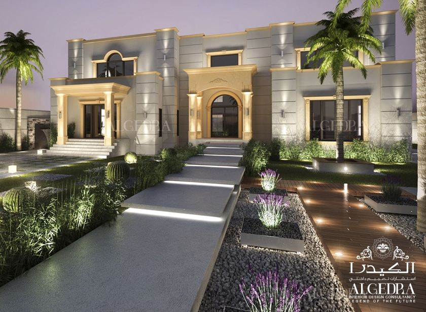 Exterior design algedra interior design consultancy for Landscape villa design
