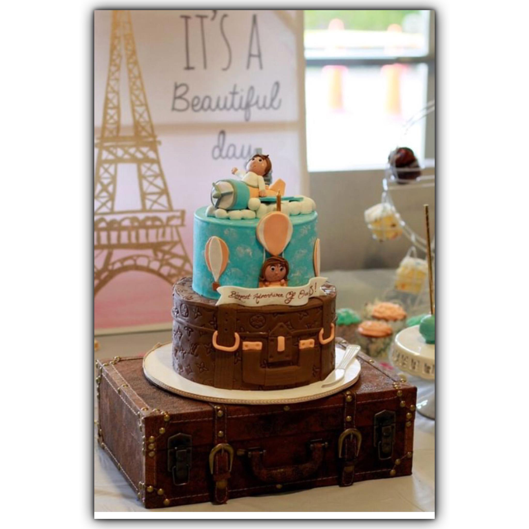 Travel Baby Shower Cake