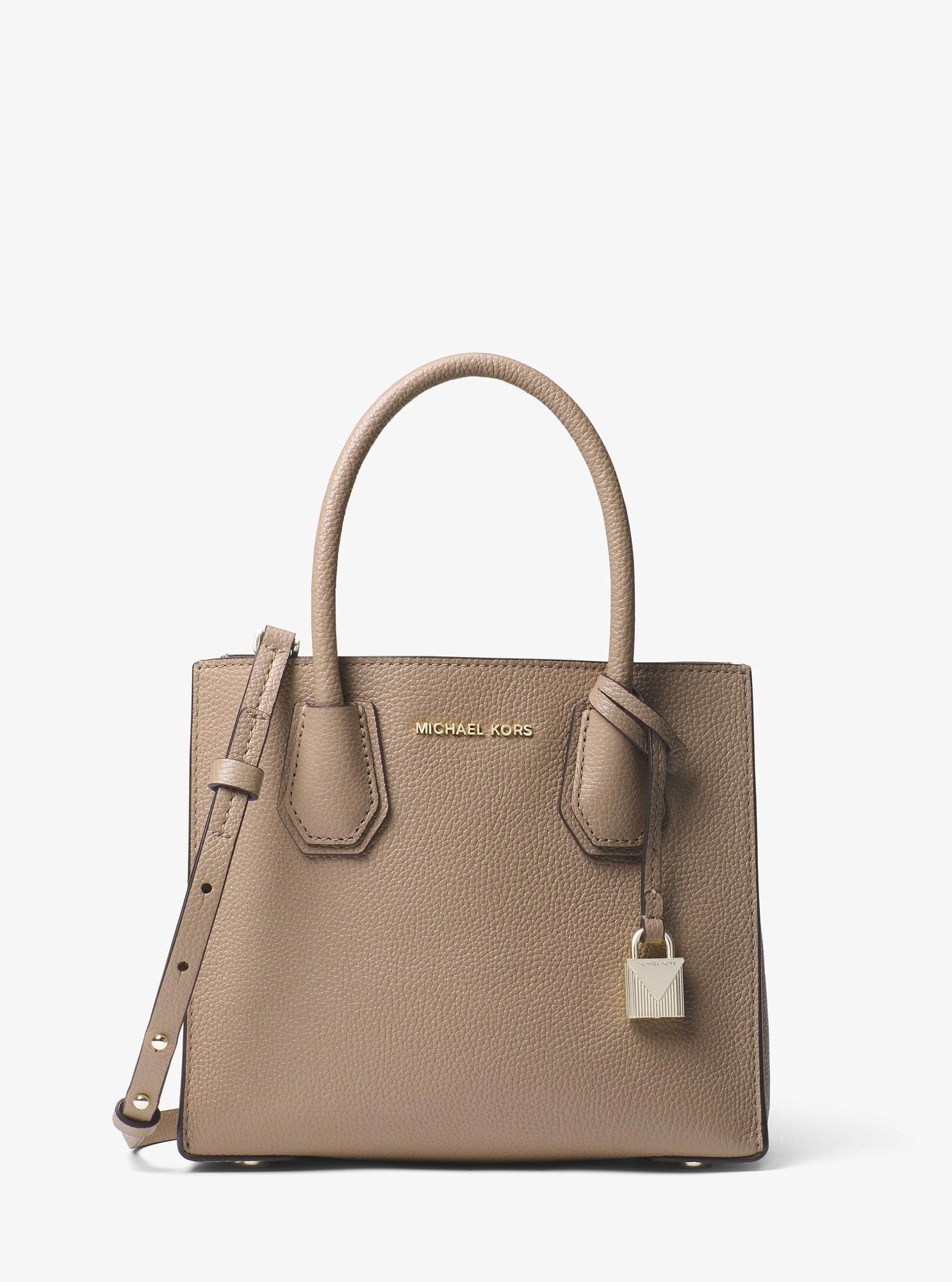 7dcace917a8f Michael Kors Mercer Leather Crossbody - Truffle  Designerhandbags ...