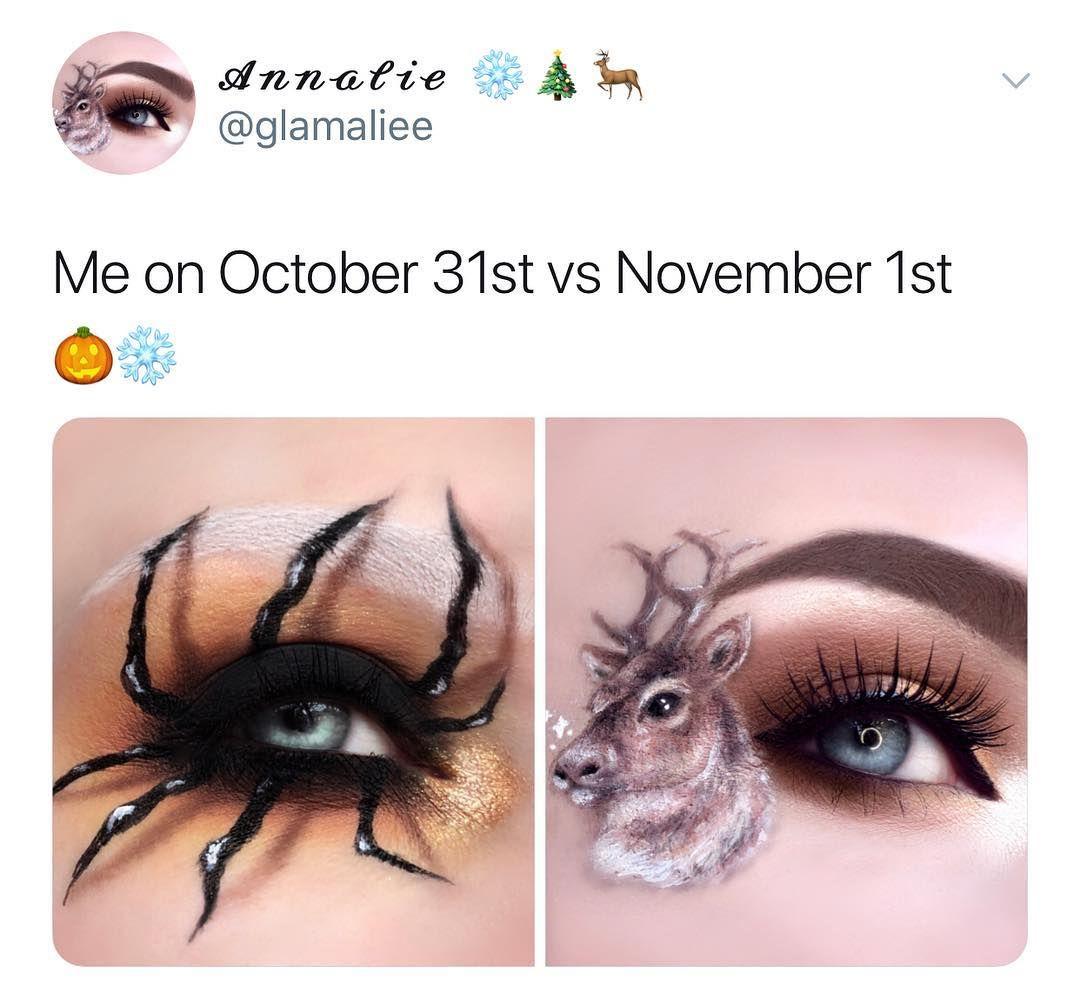 Me on October 31st vs November 1st 🎃 ️. Tag someone