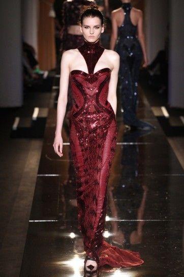 38057d232a57 Long dress bordeaux di Atelier Versace