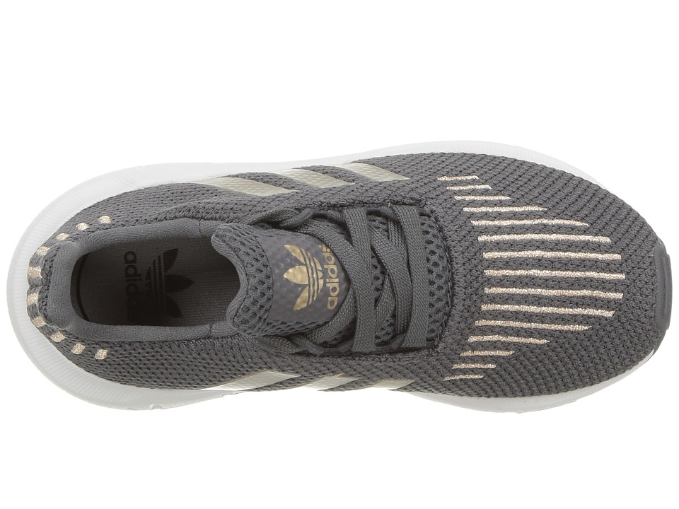 beeb313d3f0 adidas Originals Kids Swift Run (Toddler) Boys Shoes Grey 5 Copper  Metallic White
