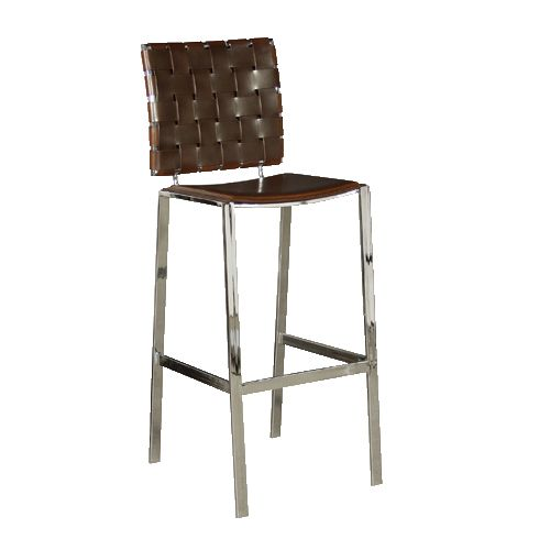Woodward Weave Brown Bar Stool Contemporary Bar Stools Woven