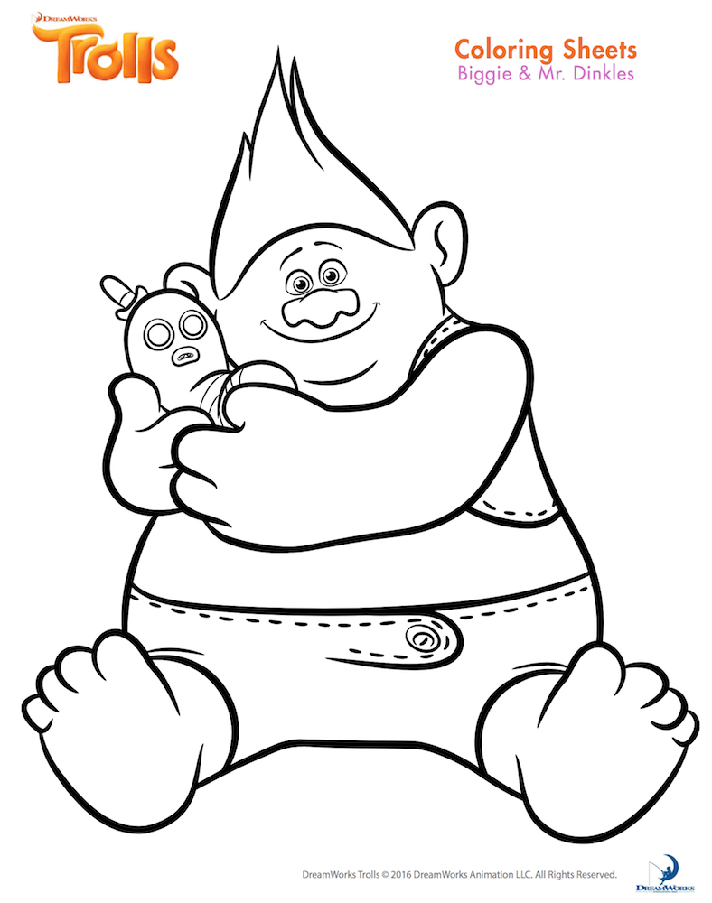 Trolls coloring pages to print - Free Trolls Coloring Pages And Printables