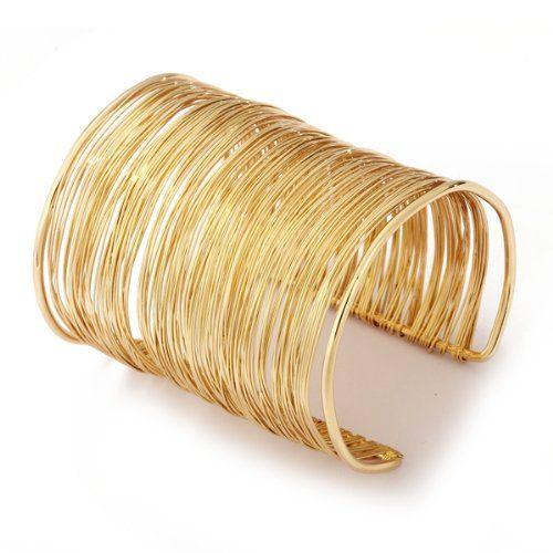 Bracelet Gourmette Jonc Manchette Ouvert En M/étal Or Bijoux Femme