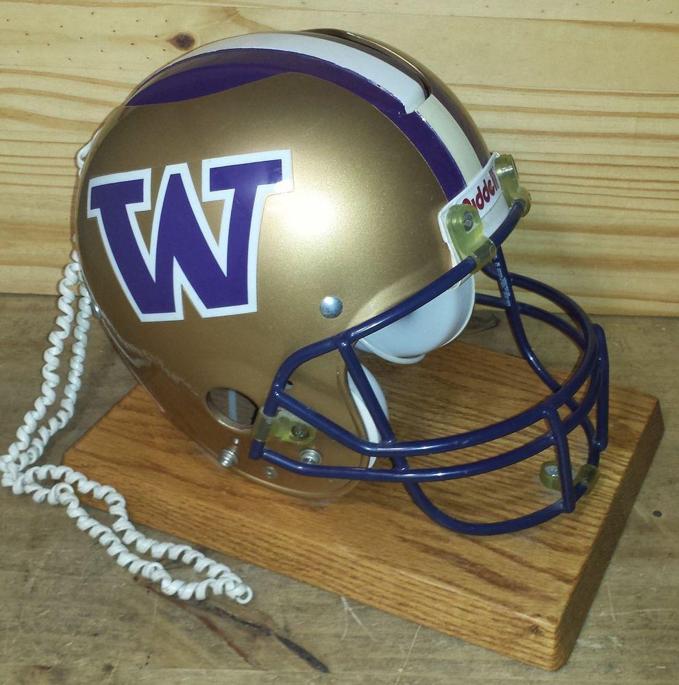 Washington Huskies Riddell Football Helmet Telephone Team Fones By Nardi Ebay Football Helmets Football Washington Huskies