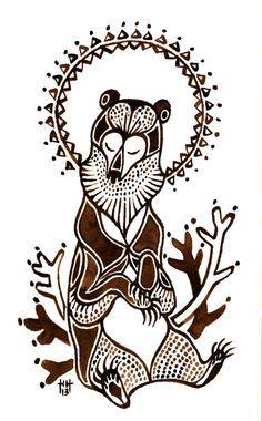 Finland Scandinavian Folk Art Bear Art Finnish Tattoo