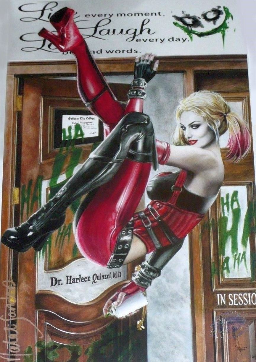 Doctor Quinzel Harley Quinn Recycled Bowling Pin Art   Etsy