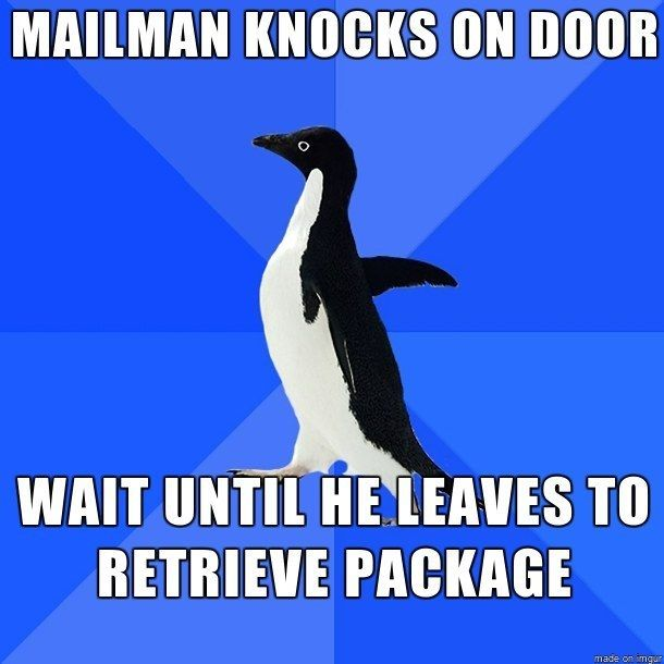Never answering the door, EVER.