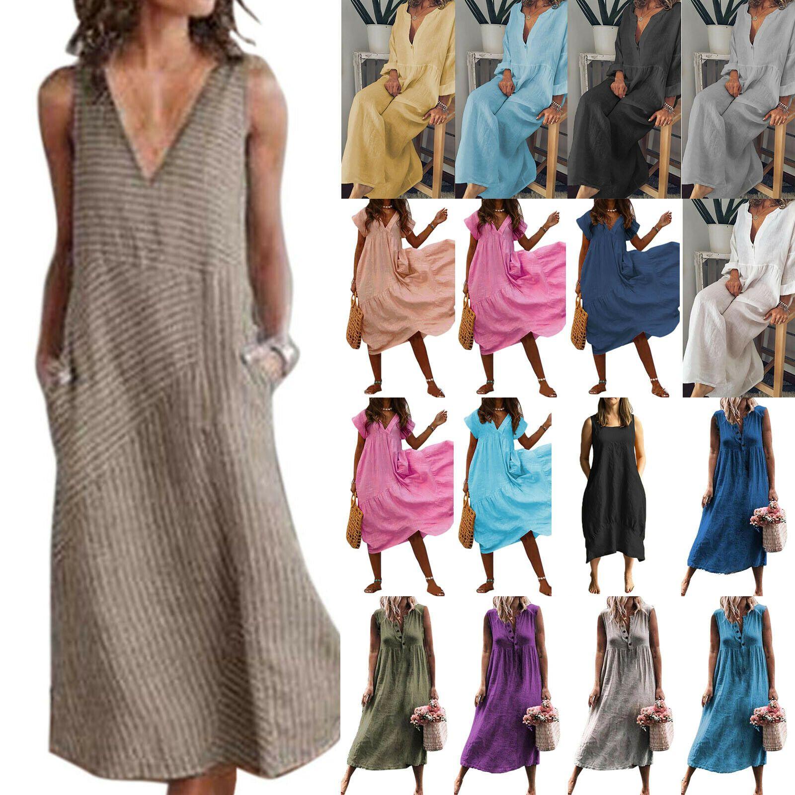 Damen Lose Langarm Kleid Shirtkleid Winter Longshirt Tunika Übergröße Sweater DE
