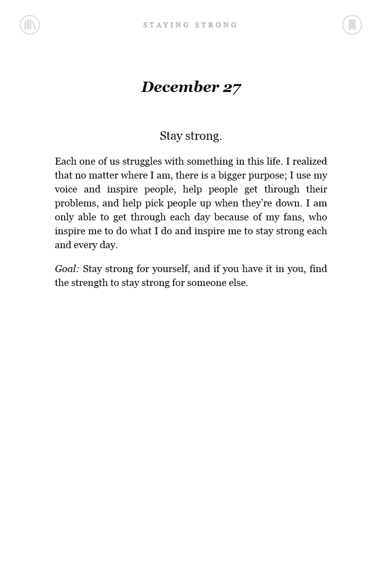 Staying Strong 365 Days A Year Demi Lovato Book Stay Strong Life Quotes