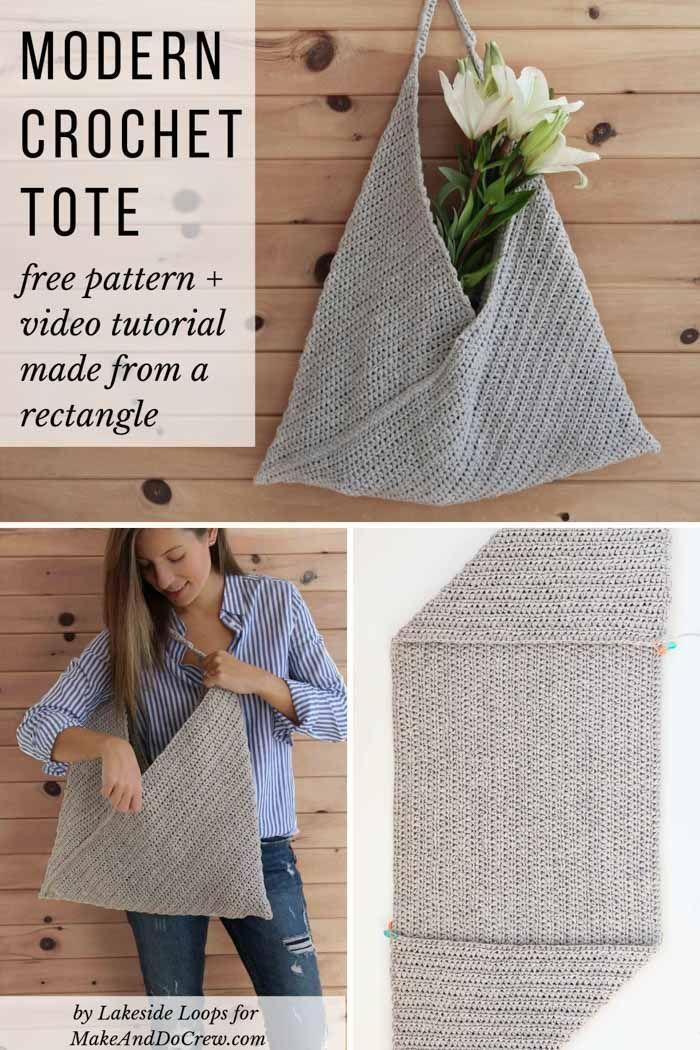 Beginner Crochet Tote Bag  Free Modern Pattern for Spring  Summer
