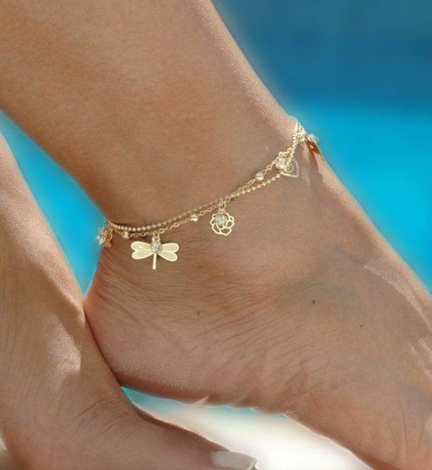 6d4c01b1a 10 Cute Ankle Bracelet Designs jewelry bracelets diy jewelry ankle bracelet