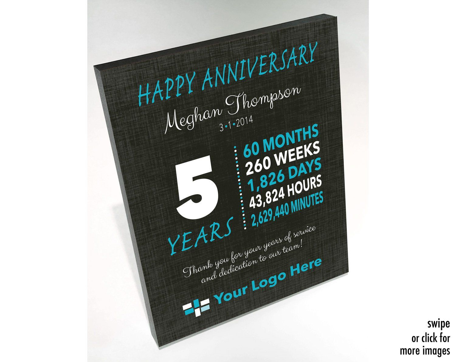 Work Anniversary Gift 5 Years Anniversary Gifts For Etsy Work Anniversary Year Anniversary Gifts Employee Gifts