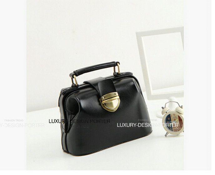 Genuine leather women handbag Doctor bag shoulder bag Vintage Hobo Clutch Purse Bolsa