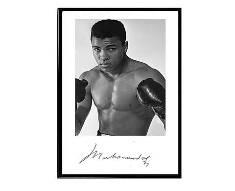 Muhammas Ali Signature Poster, Classic Sports Poster | takeflight214