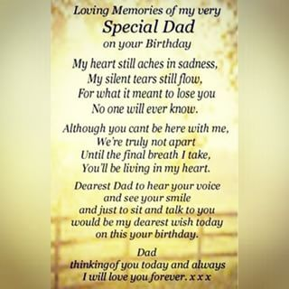 Happy Birthday Daddy In Heaven Poems From Daughter Google Search