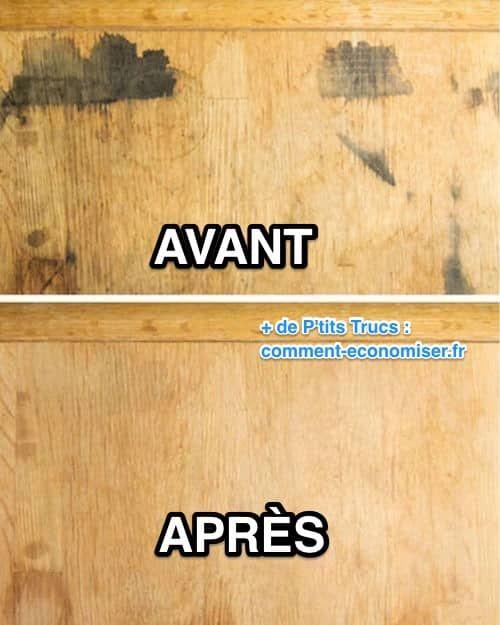 comment enlever une tache sur un meuble en bois avec du bicarbonate