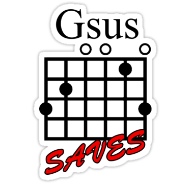 Jesus Saves (Gsus Saves) Guitar Chord\' Sticker by Jesuswear ...