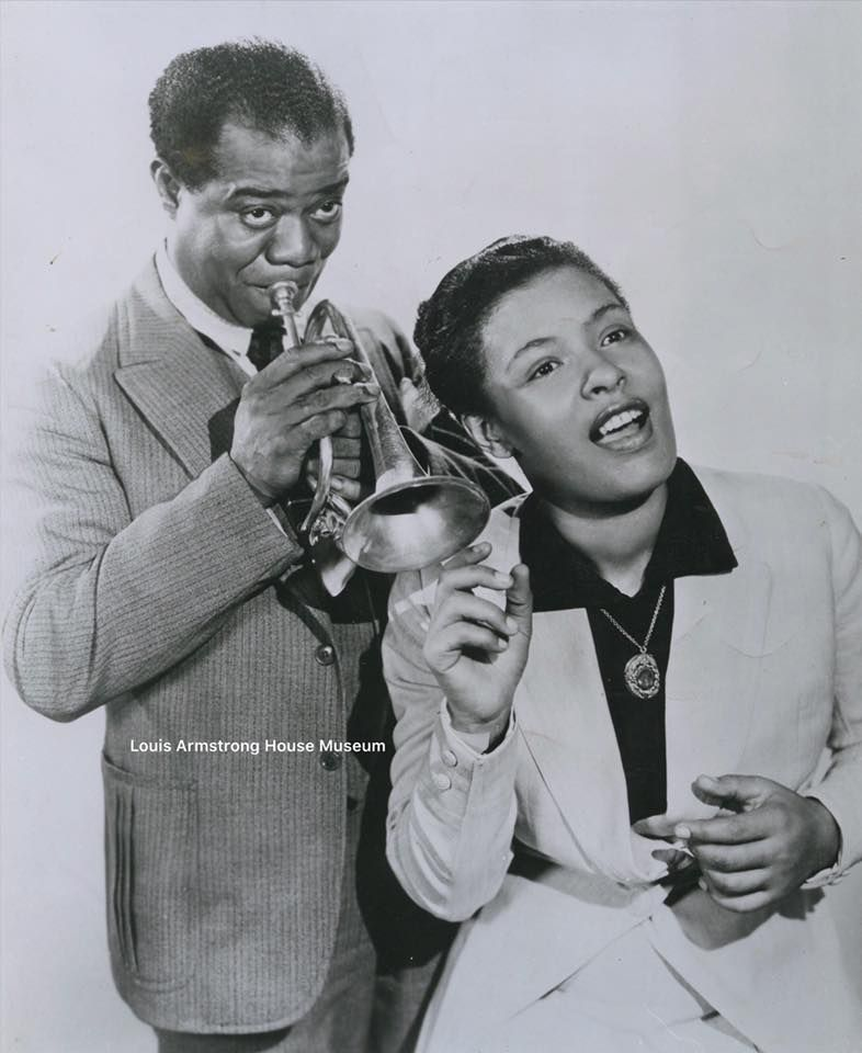 Louis Armstrong and Billie Holiday