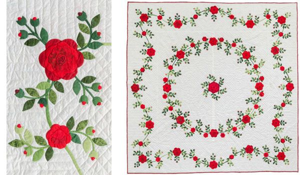 Virginia's rose quilt, two more views