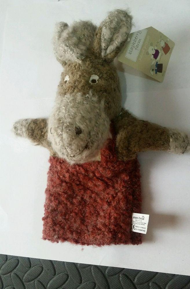 Sass & Belle Children s Hand Puppet Blackberry Farm - Dylan The Donkey