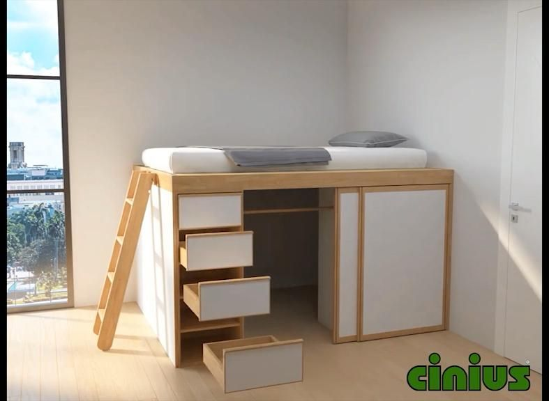 Photo of Space-saving solid wood beds | Space-saving beds