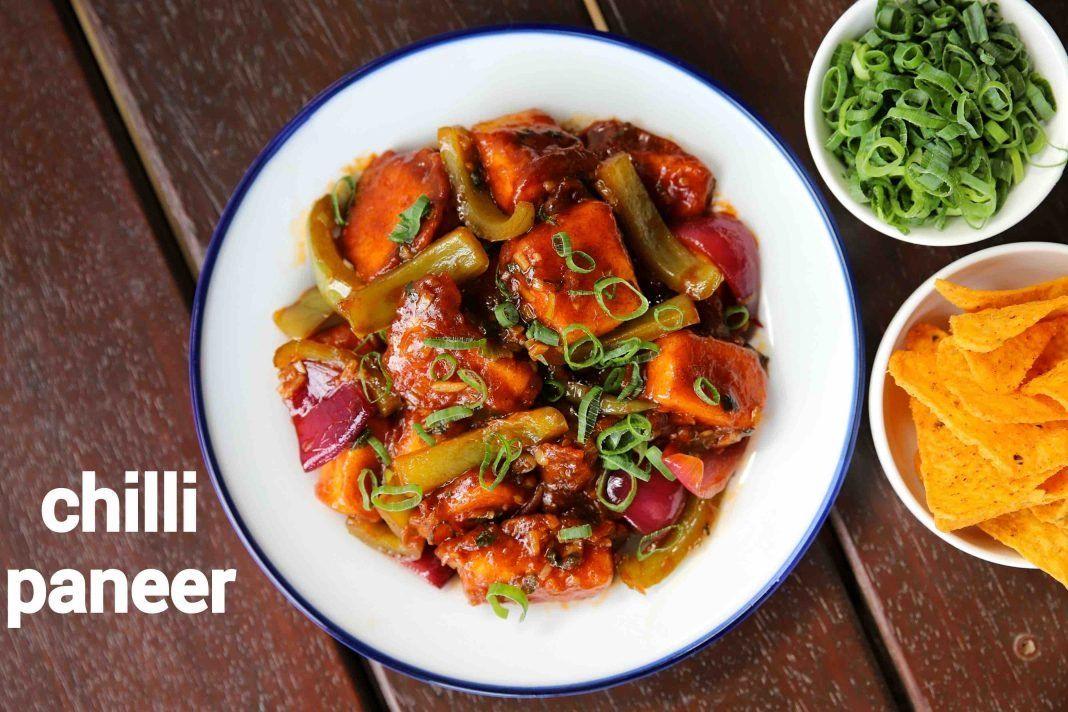 chilli paneer recipe | restaurant style paneer chilli dry ...