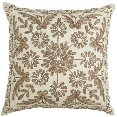 Neutral Embroidered Medallion Pillow Pier 40 Love Pinterest Classy Decorative Pillows Pier One