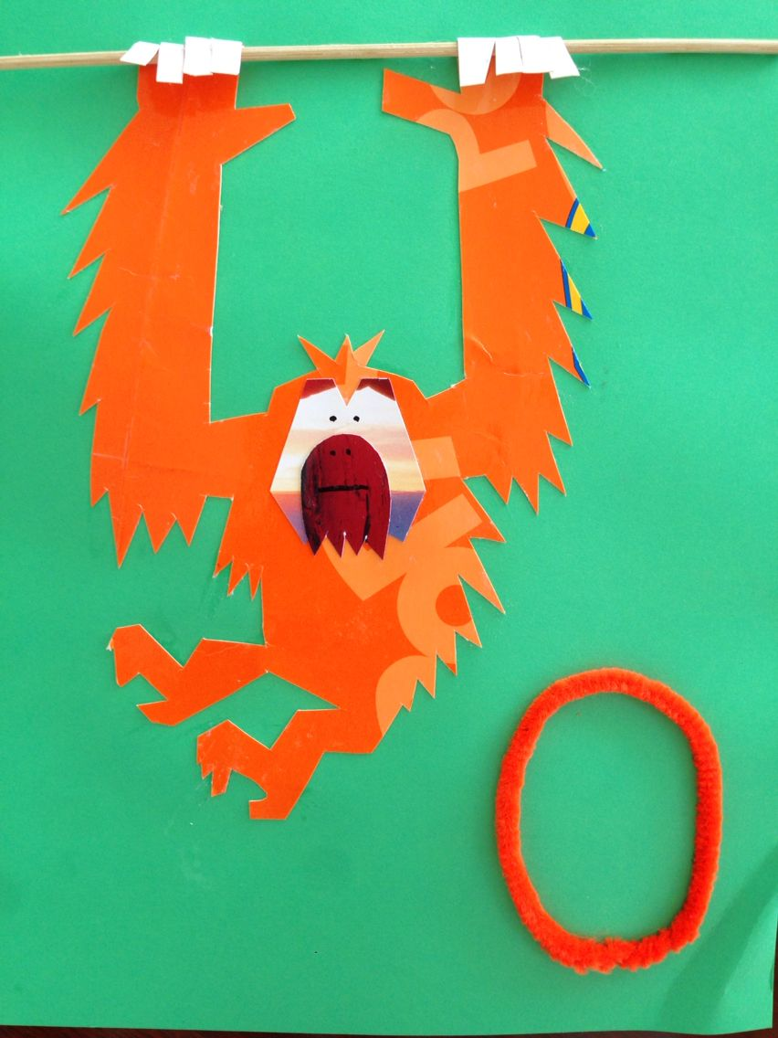 orangutan printable craft learncreatelove com learncreatelove