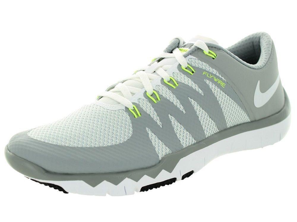 Moviente Apto Pulido  Nike Men's Free Trainer 5.0 V6 Shoes 719922 100 White/Grey/Silver Size 9.5 # Nike #RunningCrossTrainingSneakers | Training shoes, Nike men, Mens trainers