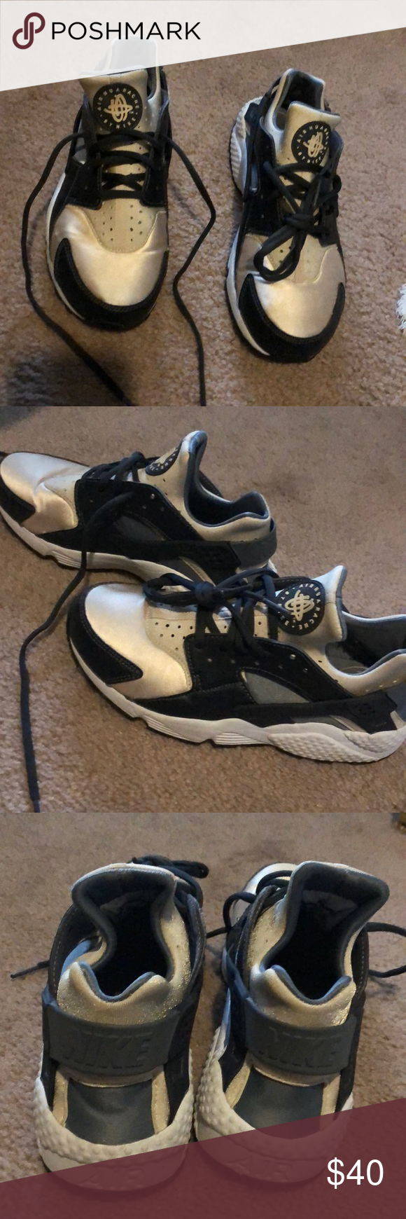 ce7cf1bc3b Nike air huarache sneakers Great condition. Hardly worn. No stains. I'm  usually a 7.6 but these run small. So a 8.5 fits perfect ! Nike Shoes  Athletic Shoes