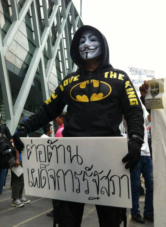 """Now , people's Army rise up and I would like to announce that, I will overthrow Thaksin regime, from THAILAND"""