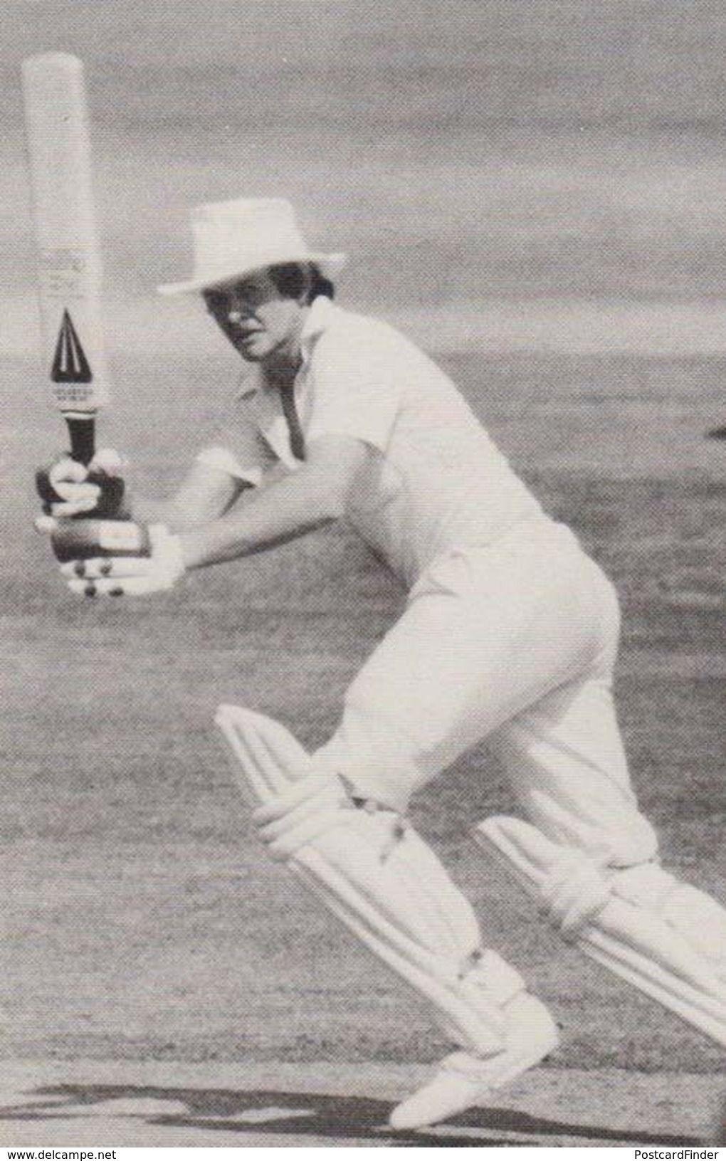 Glenn Maitland Turner Worcester Rare Limited Edition Photo Cricket Postcard Postcards Cricket Cricket Bat Duncan Fearnley