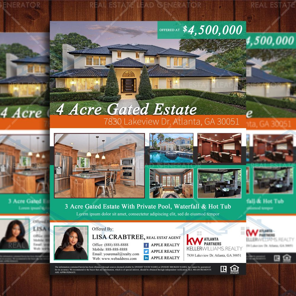 Custom Newly Listed Flyer Realtor Flyer Design Real Estate Listing - Just listed flyer template