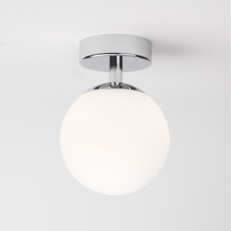 Bathroom Ceiling Sconces astro lighting chrome bathroom ceiling light with globe diffuser