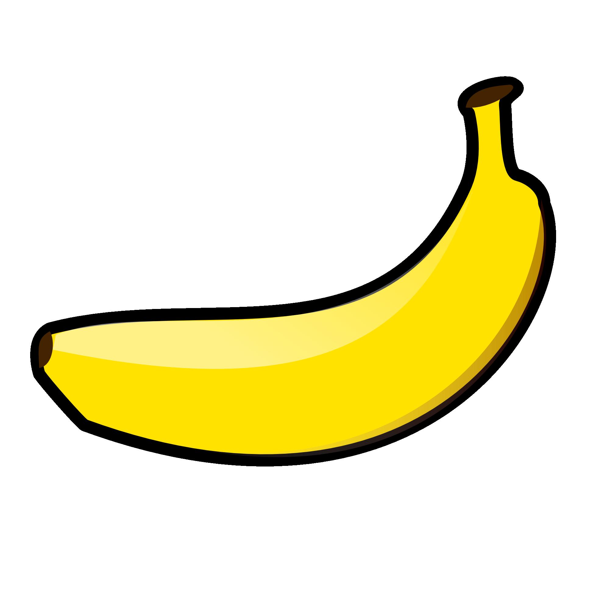 banana clipart black and education play