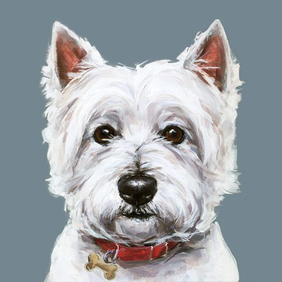 Westie Dog Painting Art Print Ltd Ed Collectable West