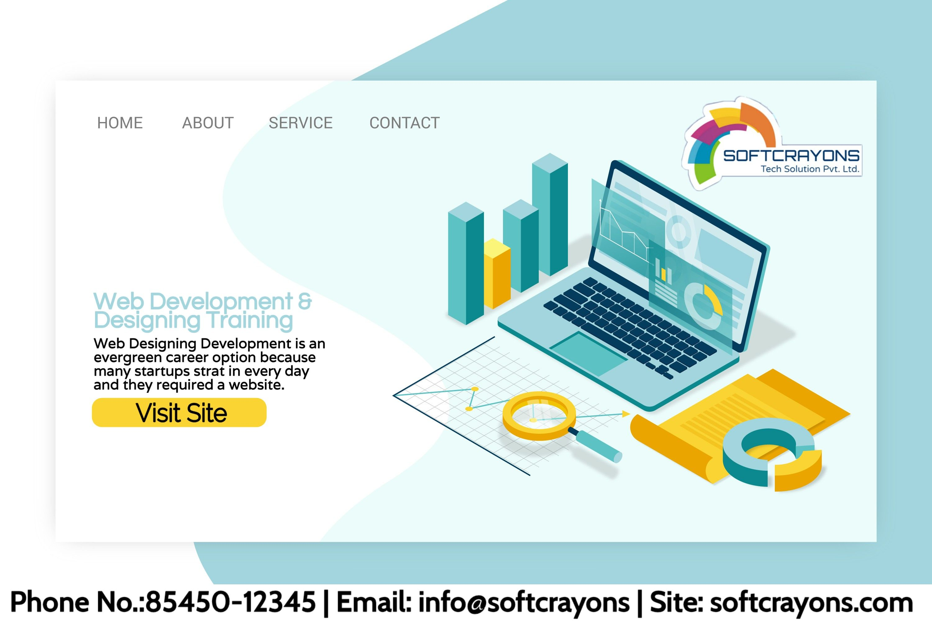 Advanced Web Designing Courses Training Institute Softcrayons Isometric Design Web Design Course Web Design Training