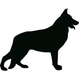 German Shepherd Silhouette Tattoos Hunde Silhouette Schwarzer Deutscher Schaferhund Schaferhunde